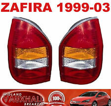 VAUXHALL ZAFIRA A 1999-03 NUOVO Paio Di Nuovo Posteriore Luci driver e lato passeggero