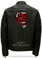 RED DEVIL embroidered BIKER PATCH satan lucifer IRON-ON 666 EVIL EMBLEM SKULL