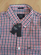 """BNWT Para Hombre De Cuadros Seersucker Camisa A&F Abercrombie. £ 64. tamaño Mediano 40"""""""