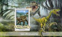 Togo 2017 MNH Dinosaurs Velociraptor Ankylosaurus 1v S/S Stamps