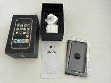 More details for old stock apple iphone 1st generation 2g 8gb box - rare at&t + accessories