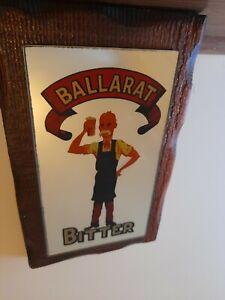 Rare Vintage BALLARAT BITTER BERTIE old pub hotel mirror