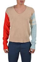 Dolce & Gabbana D&G Men's Multi-Color Wool Angora V-Neck Sweater US XS S M