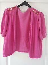 Pink bolero With Shoulder Sequins Size 22
