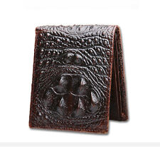 Mens Crocodile Wallet Alligator Genuine Leather Credit Card ID Purse Holder