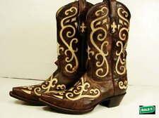 Leather Medium (B, M) Cowboy, Western 8.5 Boots for Women