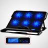 Laptop Notebook 6 Fans Cooling Stand Pad 2 USB Port Laptop Cooler 12-16 inch LCD