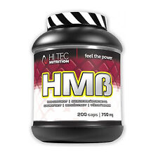 HMB 200 Caps Anticatabolic Lean Muscle Growth Fat Burner Doping Free Supplement