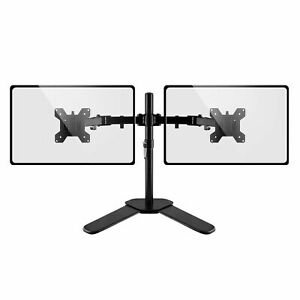 """Dual Monitor Stand Double Display Computer Monitor Arm Mount Desk 13-27"""" Screen"""