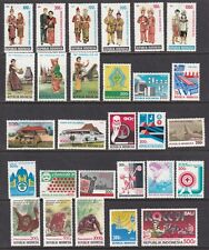 Indonesia 1454-1482 1991 Collection of Commemorative Stamps & S/S SCV $92.95