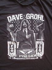 RARE Dave Grohl for President tee shirt Toronto Foo Fighters Bloc Party Rock XL