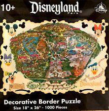 Disneyland Map DECORATIVE BORDER Puzzle 1000 Piece Brand New & Sealed