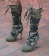 STIVALI donna sexy tipo militare
