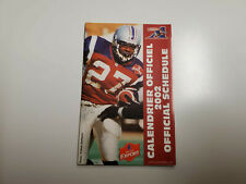 Rs20 Montreal Alouettes 2002 Cfl Football Pocket Schedule - Molson Export