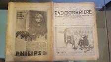 RADIOCORRIERE EIAR 1932 N13 PUBBLICITA' PHONOLA,RADIO CROSLEY,CENTENARIO GOETHE