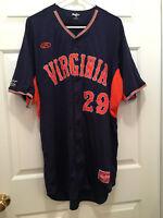 University of Virginia UVA Cavaliers Baseball #29 Game Worn Blue Orange Jersey