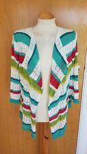 ladies PER UNA cardigan size 12 open weave white red lagenlook draped