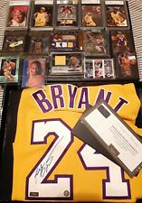 !!!Kobe Bryant signed autograph jersey!! 10/24, plus Rookie cards and more