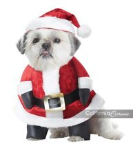 Pet Santa Pup Dog Christmas Outfit Xmas Party Fancy Dress Costume Large