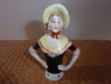 ANTIQUE HALF DOLL 1920's GERMANY #14504 PORCELAIN CHINA BISQUE COLLECTIBLE