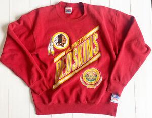 Rare Vintage NUTMEG NFL Washington Redskins Member Club Crew Sweatshirt Large