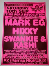 Hardcore Reborn vs Distortion ~ A3 Rave Poster, Plymouth. 10/9/11. Rave Flyers