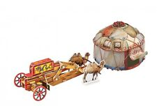 Cardboard model kit. The medieval town. Siege camp of nomads.