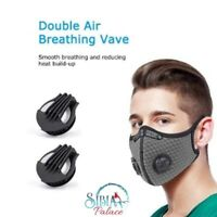 Melbourne Adult 3 Pcs Washable Reusable PM2.5 Face Mask & 2 Respirator Filter Au