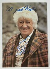 More details for doctor who jon pertwee autograph signature postcard, dr who