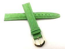 16mm Genuine Leather Swiss Made watch Band Strap Green