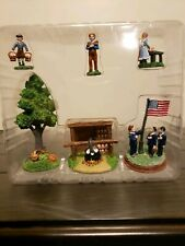 Liberty Falls Ah279 accessories Christmas Village figures tree flag