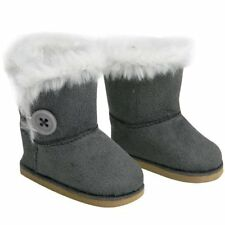 """Doll Clothes AG 18"""" Boots Suede Grey Sophia's Made To Fit American Girl Dolls"""