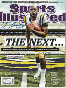 Leonard Fournette Autographed LSU Tigers Sports Illustrated 10/19/2015 JSA 14104