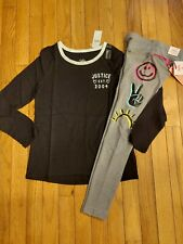 NWT Girls Justice Logo Top Size 8 - Doodle Leggings Size 7/8