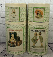 Vintage Good Housekeeping Canisters Tin Metal Round Cheinco Lot