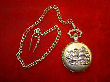Guess Collection GC Pocket Watch w/ Sailboat & Filagree