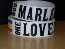 2 BOB MARLEY SILICONE RUBBER WRISTBAND BRACELETS OFFICIAL LICENSE ZION ROOTSWEAR