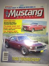 Mustang Monthly Magazine '68 Sprint Shelby Verts March 1987 041117NONRH2