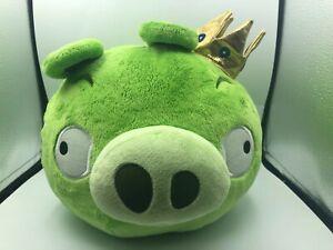Large Angry Birds King Pig Crown Green Plush Kids Soft Stuffed Toy Animal Rovio