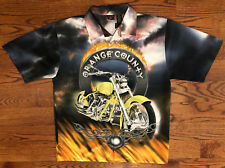 VTG Size Large Men's Orange County Choppers OCC Short Sleeve Button Up Shirt