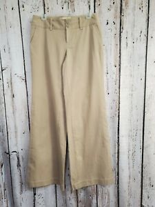 HHP Women's Sz 4 Tall London Jean Marisa Chino Extra Wide Leg Khaki Pants Slacks