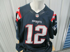 VINTAGE NIKE AUTHENTIC NEW ENGLAND PATRIOTS TOM BRADY SEWN SIZE 52 BLUE JERSEY