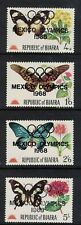 BIAFRA  stamps Mi31-34 BUTTERFLIES, - *OVERPRINTED MEXICO 1968 OLYMPICS* mint LH