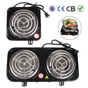 Electric Stove Single/Dual Burner Portable Travel Compact Small Hot Plate Dorm