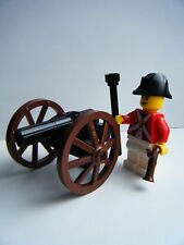 LEGO PIRATES CUSTOM CANNON & IMPERIAL RED COAT SOLDIER MINIFIGURE MADE OF LEGO