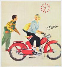 DDR Werbebroschüre Reklame Werbung Simson SR2 E Faltblatt SELTEN!!! 4294