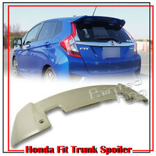 Unpaint For Honda Fit 3rd Jazz Hatchback RS Style Trunk Spoiler ABS EX 2014up