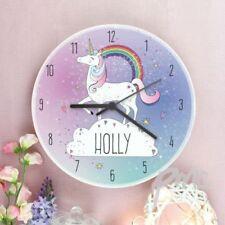 Wooden Children's Playroom Unicorn Wall Clocks