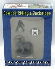 Cowboy Riding a Jackalope 0447 Weird West Rider on Giant Rabbit Mount Miniature