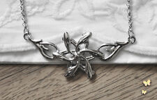 Silver Royal Galadriel Flower Star Necklace Hobbit Smaug LOTR Lord of the Rings